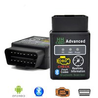 HH OBD Mini ELM327 Bluetooth V2.1 OBD2 Diagnostic Scanner orme 327 Bluetooth OBD II Outil de diagnostic en direct outil d'analyse de données périphérique