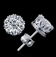 أعلى جودة 925 الفضة ولي أقراط الأزياء تشيكوسلوفاكيا الماس 18 كيلو الذهب الحقيقي مطلي أقراط مجوهرات كريستال 2 ألوان شحن مجاني