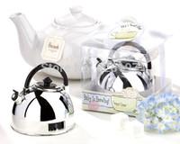 1pcs Gift Box + 60 minutes Minuteur Alarme mécanique Mini shaped teapot horloge minuterie comptage cadeaux de faveur de mariage cool
