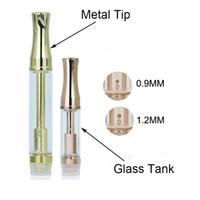 Heißer Verkauf Rose Gold Farbe 92A3 dicke Ölpatrone Gold Farbe Glas Tank E flüssiges Öl Vaporizer 510 Zerstäuber