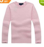 뜨거운 판매 2020 새로운 고품질 마일 책략 폴로 브랜드 남성의 트위스트 스웨터 니트면 스웨터 점퍼 풀오버 스웨터 작은 말 게임
