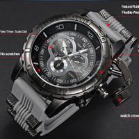 Reloj de hombre 2018 Nuevo V6 Super Speed Silicona Cuarzo superficie 3D Hora del reloj Hombre Analógico Militar Gran Dial Sport Hombre Reloj