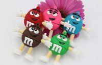 100% real capacity chocolate M&M USB flash pen drive 8gb 16g...