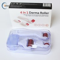 4 em 1 rolo derma titânio micro agulha rolo zgts / dns / mns / drs dermaroller rolos meso para a pele cicatriz