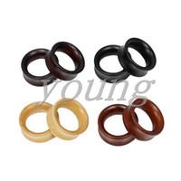 جودة عالية الخشب الأذن نفق المقابس مقاييس الأذن ثقب الجسم مجوهرات الحجم 8-28mm.