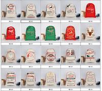 2017 هدايا عيد الميلاد أكياس كبيرة قماش حقيبة الثقيلة سانتا كيس الرباط حقيبة مع أكياس الرنة سانتا كلوز كيس للأطفال
