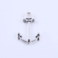 Nueva moda de plata / cobre retro Ancla de barco Fabricación de bricolaje colgante de la joyería en forma de collar o pulseras charm 150pcs / lot 5192w