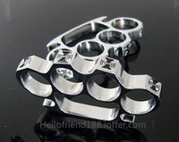 QTY CHOPPER CHROME BRASS KNUCKLES KNUCKLEDUSTER BUCKLE Safet...