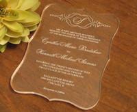 2016 جودة عالية الاكريليك واضحة بطاقة دعوات الزفاف ، دعوات الزفاف ، دعوات الاكريليك ، دعوات الزفاف ،