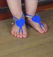 bebê Crochet Barefoot Sandálias do verão Sandálias Calçados Beads sandálias de algodão vitorianos Pé Mulheres elegantes acessórios Beachwear Sexy Nude