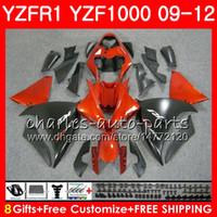ヤマハYZF 1000 R 1 YZF-1000 YZF-R1 09 12オレンジブラックボディ85NO12 YZF1000 YZFR1 09 10 11 12 YZF R1 2009 2011 2011 2012フェアリング