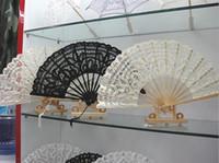 """Braut Hochzeit formelle Ereignisse Fans Hochzeit Fans Folding Lace Fans Handmade 10,6 """"Plain White Hand Fans Ladies Folding Fans"""