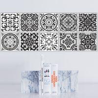 Schwarz Und Weiß Retro Fliesen Fliesen Aufkleber Pvc Bad Wc Wasserdichte  Wandaufkleber Wohnkultur Wand Poster Adesivo De Parede