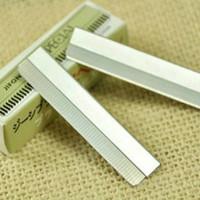 Atacado-Preço de Fábrica 10 PCS Maquiagem Sobrancelha Razor Trimmer Shaper Pro Kit De Barbear 10 Lâminas Com Caixa