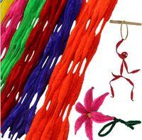 70pcs 어린이의 키즈 교육 완구 트위스트 - 플렉스 봉 봉제 스틱 DIY 재료 수제 샤이 - 스틱