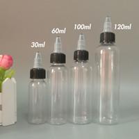 E çiğ Plastik Damlalık şişeleri ile büküm kapalı Caps 30 ml 60 ml 100 ml 120 ml pet kalem şekli şişeleri için e çiğ sıvı E suyu