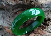 2016 i braccialetti delle donne verdi della giada verde di Hetian degli spinaci bella Size54-62MM possono scegliere il formato Alta qualità!