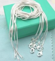 1mm snake chain necklace, Wholesale lots 925 sterling silver ...