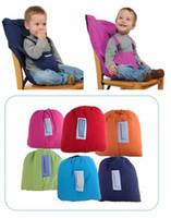 Cinturón de asiento portátil Cinturón de alimentación Cinturón de silla de comedor para niños pequeños bebé sillas altas 15pcs / lot