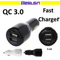 Bestsin Qc 3. 0 Fast Car Charger High Quality Dual USB LED Fa...