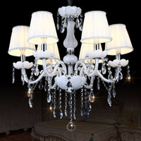Lustre Modern K9 Led Crystal Chandelier Lighting Ceiling Cha...