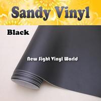 Tiras de vinilo negro Sandy Wrap Air Free para el tamaño de la computadora portátil del vehículo: 1.52 * 30M / Roll (5 pies x 98 pies)