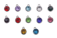 12PCS Assorted of Rhinestone Birthstone Charms #91164