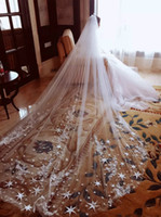 Cathedral Length Long Wedding Veils Bridal Veil Two Layers 3...
