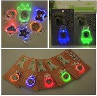 LED clignotant Tag Balier de chien LED LED Nom de chien ID Tag Tag de chien Tag patw, étoile, coeur, rond, os