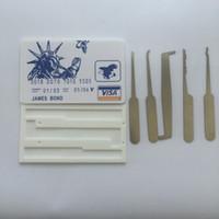 بطاقة الائتمان قفل اختيار مجموعة بطاقة فتح القفل اللقطات lockpick الأقفال أدوات قفل أدوات اختيار قفل