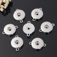 Noosa aleación de plata 18 mm jengibre botón a presión joyería de la base para el botón a presión pulsera collar de bricolaje accesorio de la joyería