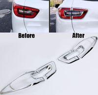 För Renault Kadjar 2016 2017 ABS Chrome Trim Krom Styling Biltlampor täcker exteriör dekoration Biltillbehör