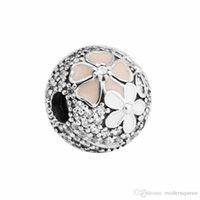 Clip Kralen Charm Zilver 925 Past voor Sieraden Armbanden S925 Sterling H7 Poëtische bloemen