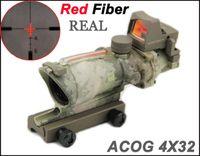 جديد التكتيكية trijicon الفريق التعاوني 4X32 ريال الألياف المصدر الأحمر مضيئة (ريال الأحمر الألياف) نطاق ث / rmr مايكرو ريد دوت البصر a-tac