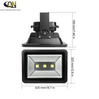 COB 20W 30W 50W 100W 150W 200W LED RGB / WW / CW 옥외 LED 홍수 빛은 정원 방수 IP65 블랙 셸을 조명기구 램프