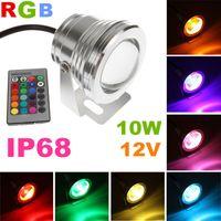 Atacado-barato !! 2 pcs holofotes LED de baixa tensão paisagem exterior iluminação de palco 10 w RGB cor mutável Spot led wedding lights