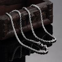 고품질 316L 스테인레스 스틸 트위스트 로프 체인 목걸이 2mm 18-24inches 패션 유니섹스 쥬얼리 무료 배송