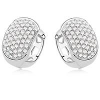 Hot Fashion Clear Crystal Stud Boucles D'oreilles Pour Les Femmes De Bijoux De Mariage En Or Blanc 18 K Plaqué Vintage Boucles D'oreilles 11199