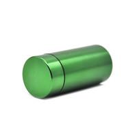 방수 고무 공기 꽉 실버 알루미늄 밀폐 저장 필 박스 실린더 숨기기 케이스 담배 허브 저장 병 상자