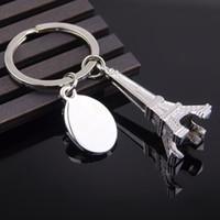 드롭 배송 새로운 뜨거운 판매 파리 에펠 탑 키 체인 참신 항목 혁신적인 가제 트 넌킷 기념품 크리스마스 선물 열쇠 고리