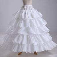 Robe de mariée de charme jupons 4-cerceau en cascade à volants rock and roll Crinoline de mariée pour robe de boules de robe de pageant en4296