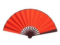 Blank Fan rosso di seta cinese Ventaglio pieghevole a mano di grandi dimensioni palmari sposa Portable fan personalizzati fai da te adulto Arte Pittura programma 1pcs