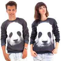 FG 1509 Raisevern 2015 femmes / hommes le panda pull-overs Funny sweatshirts galaxies d'animaux sweats à capuche top