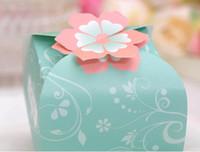 50pcs approvisionnement en fleurs de bricolage papier cadeau bijoux bonbons boîte faveur faveur titulaire