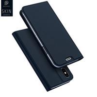 Dux Deri Kılıf Iphone X Flip Kapak Iphone 8 Cüzdan Telefon Kılıfı Iphone 8 8 Artı 6 6 s 7 Artı Tam Koruma Kapak