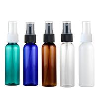 50 adet 60 ml boş püskürtücü daha fazla renk PET şişeler, doldurulabilir ayar sprey plastik konteyner PET, deodorantı plastik sprey beyaz şişeler