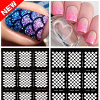 Reusable nail art stencils uk free uk delivery on reusable nail hollow nail sticker guide paper 18cmx35cm wholesale 1sheet new reusable stamping nail art hollow black templates stencils stickers vinyls image guide prinsesfo Images