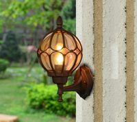 야외 방수 벽 램프 발코니 에너지 절약 LED 정원 조명 유럽 복고풍 통로 비 벽 램프