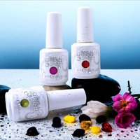 12pcs / lot Nail Art célèbre marque Harmony GELISH Soak Off UV / LED Gel polonais. 5 oz / 15 ml / 0,5 oz
