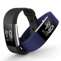 F2 Heart Rate Monitor Smart Браслет браслета Водонепроницаемое кровяное давление Tracker Smart Band для Android iOS для Fitbit Charge 2 Style OTH585
